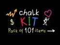 CHALK WRITING KIT – PACK OF 101 – $21
