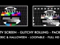 BAD TV SCREEN – PACK OF 2 – GENERIC & HALLOWEEN – $12