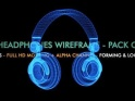 DJ HEADPHONES – 3D WIRE FORM & SPIN – PACK OF 2 – $12