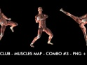 FIGHT CLUB – MUSCLES MAP – COMBO #3 – $12