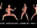 FIGHT CLUB – MUSCLES MAP – COMBO #4 – $12