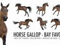HORSE GALLOP – BAY FAVORITE – PACK OF 7 – $21