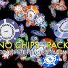 CASINO CHIPS – FALLING, FLYING, EXPLODING – PACK OF 5 – $9