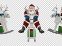 SANTA RIDING WOODEN REINDEER – PACK – 3 LOOPS – $12