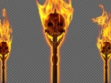 SKULL TORCH – POLE AND GATE – I – FACE – PACK OF 2 – $14