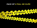 Virus Hazard Tape – I – 2 Pack – $10