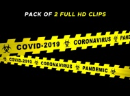 Virus Hazard Tape – II – 2 Pack  – $10