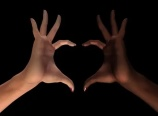 HEART HANDS – WHITE & BLACK – TRANSPARENT TRANSITION – $5